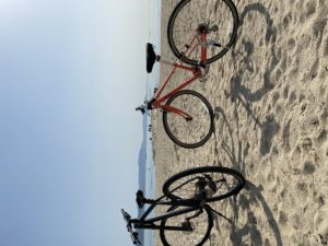 GIANTクロスバイクレンタルして海沿いを走ります