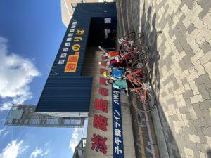 明石駅から5分のスポーツバイクレンタルショップです。